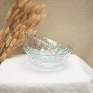 2 Crystal Glass Bowls